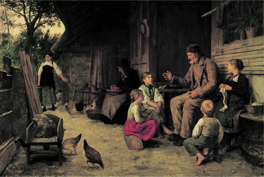 А. Anker «Der Grossvater erzählt eine Geschichte», 1884