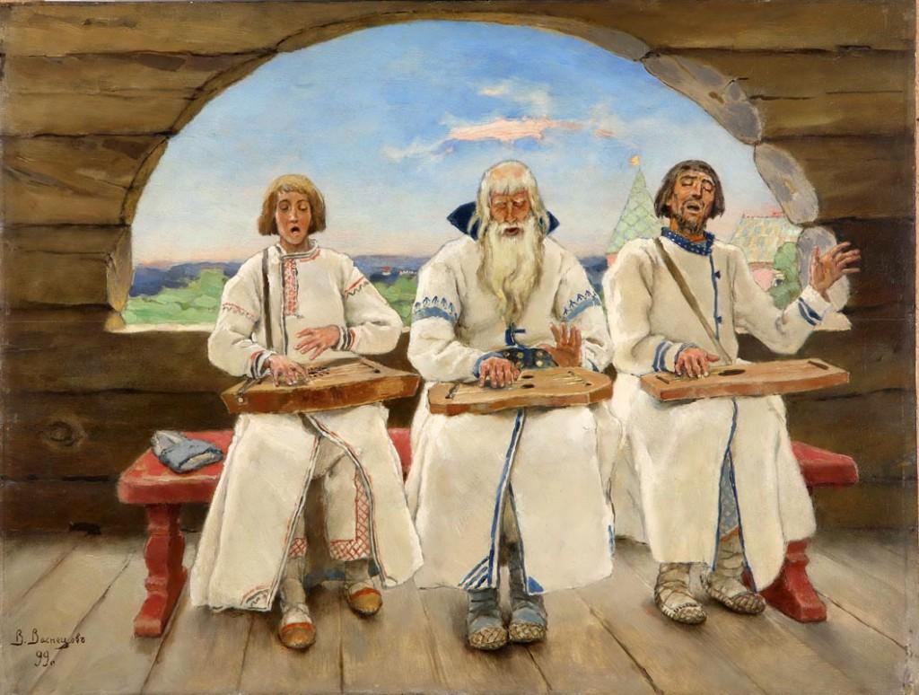 В. Васнецов «Гусляры», 1899