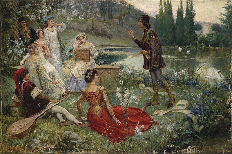 Salvatore Postiglione «Motiv aus dem Decamerone», 1906